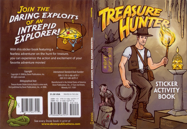 Dover Treasure Hunter Cover Spread