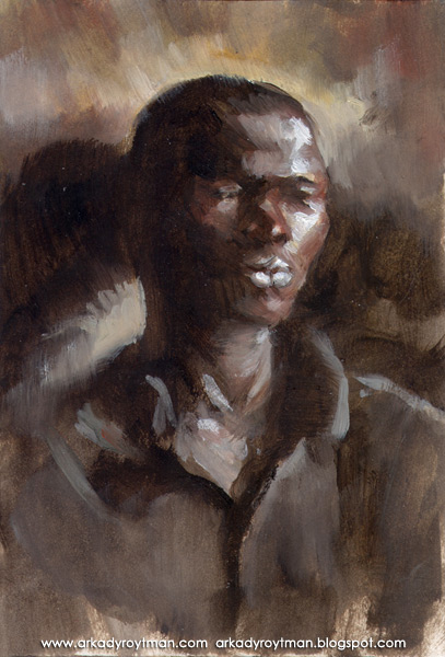 Oil Sketch of an African