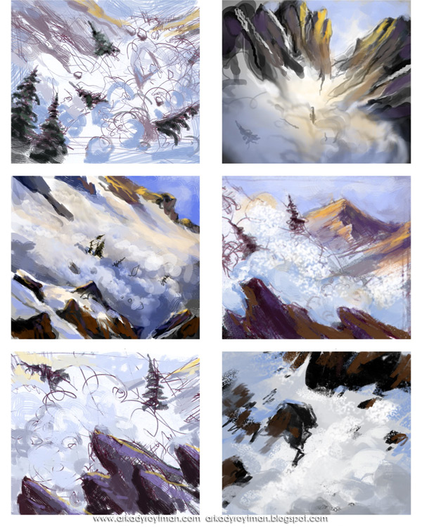 Fantasy Flight's Talisman: Avalanche Sketches